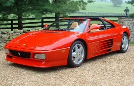 Ferrari 348 ts Räder- und Reifenspezifikationensymbol