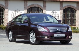 Nissan Teana wheels and tires specs icon