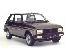 Peugeot 104 Räder- und Reifenspezifikationensymbol