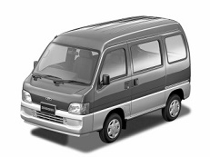 Subaru Sambar Dias wheels and tires specs icon