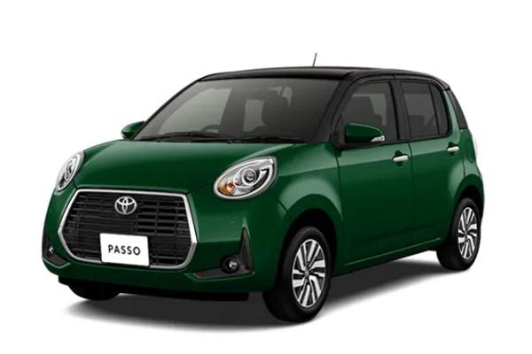 Toyota Passo wheels and tires specs icon