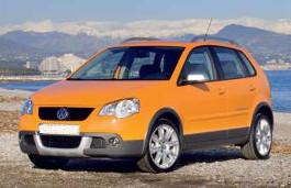 roues et icone de spécifications de pneus pour Volkswagen CrossPolo