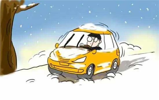 车轮陷在结实的雪地或冰面上怎么办?